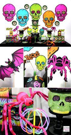 Soiree Event Design | Kid-Friendly Spookadelic Halloween Party Ideas | http://soiree-eventdesign.com #halloweenpartysupplies