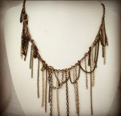 Harpy Multicolor Layered Chain Statement by DeadPoetAccessories