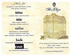 Huesped Card 2002 Year, Before 2004 Closed For Renovation, The Plaza Hotel, Manhattan New York