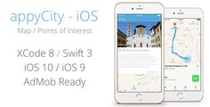 """appyCity - iOS City Guide Map App . For your data, you can edit Plist files directly in Xcode or import your """"Excel like"""" spreadsheets.The App is AdMob ready (which you can easily enable or"""