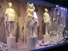 Seen at StyleBubble, a Selfridges window installation