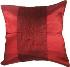 """Artiwa 16""""x16"""" Red Silk Couch Bed Decorative Throw Pillow Covers Artiwa $19.99"""