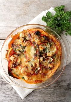Chorizo, Vegetable Pizza, Quiche, Feta, Food And Drink, Healthy Recipes, Healthy Food, Baking, Breakfast