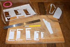 Wood Turning, Diy And Crafts, Stencils, Triangle, Shed, Handmade Items, Woodworking, Plastic, Crafty