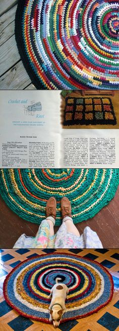 Crochet Rag Rugs - Ideas & Inspiration.