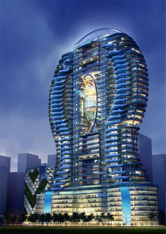 "Another ""view"" of the Bandra Ohm Residential Tower imagined by James Law Cybertecture."