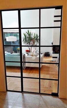 Drzwi Loftowe - Industrialne | Drzwi wewnętrzne - zabudowy szklane - drzwi loft - podłogi Door Mirrors, Diy Home Crafts, Shelving, Divider, Loft, China, Doors, Nice, Furniture