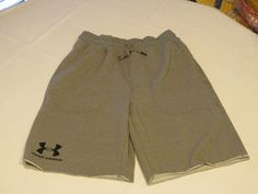 Under Armour Heatgear training active gym shorts Mens 1272417 082 grey M loose #UnderArmour #Shorts