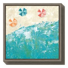Take a fun trip to the beach wherever you place the Amanti Art Beach Days Framed Canvas Wall Art. With a unique perspective, the sand and surf meet, and colorful umbrellas dot the landscape to give you a view from above. Canvas Frame, Canvas Wall Art, Colorful Umbrellas, Frame Shop, Custom Art, Beach Day, Baby Clothes Shops, Memes, Decorative Items