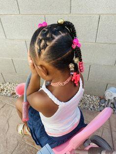 Black Baby Girl Hairstyles, Little Girls Natural Hairstyles, Cute Toddler Hairstyles, Cute Hairstyles For Kids, Kids Braided Hairstyles, Little Girl Braid Styles, Braids For Kids, Curly Hair Styles, Kid Hair