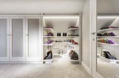 A more feminine take on a walk-in wardrobe and on a larger scale by one of our interior designers for a client with a new build house in Wiltshire.