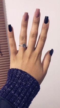 Uñas rosa y negro Gel Nails, Manicure, Cute Nail Designs, Cosmetology, Cute Nails, Hair Care, Make Up, Nail Art, Tattoos