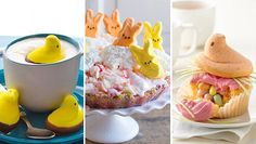 Use classic marshmallow peeps in desserts and cocktails for a fun Easter treat.