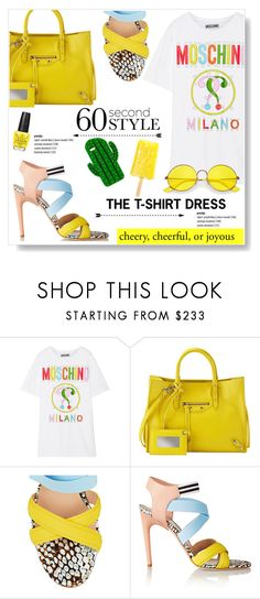 """""""Cheery, Cheerful, or Joyous!"""" by viola279 ❤ liked on Polyvore featuring Moschino, Balenciaga, MSGM, Ray-Ban and MELLOW YELLOW"""