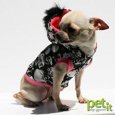 Dog clothes mohawk Skull and bones small dog by PetitDogApparel, $30.00