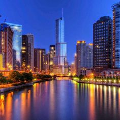 Trump Tower on Chicago River Chicago River, Trump Tower, My Town, Willis Tower, Abandoned, New York Skyline, Building, Travel, Cityscapes