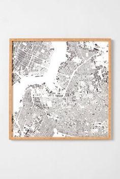 CityFabric Inc For DENY Brooklyn White Framed Wall Art