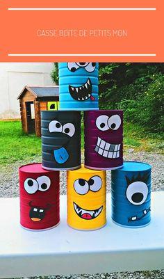Break the box of little monsters ! - Children's cake diy cardboard Break the bo. - Break the box of little monsters ! – Children's cake diy cardboard Break the box of little mon - Kids Crafts, Tin Can Crafts, Diy And Crafts, Paper Crafts, Wood Crafts, Diy Cardboard, Backyard Games, Outdoor Games, Kids Outdoor Play