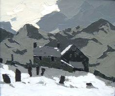 Kyffin Williams.  'Above Deiniolen'  oil on canvas.