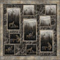 "Pattern - Wilderness Mountain - 65""x 65""- Wanda's Designs"