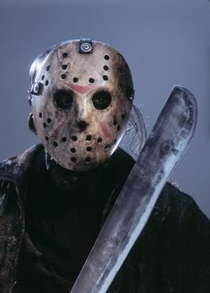 """Freddy Vs. Jason (2003)""""This Jason Voorhees supposedly drowned at Camp Crystal Lake back in 1957 when he was 11-years old. The counselors weren't watching him. Then they made the mistake of killing his mother. Now legend has it that Jason kept... Gotham News, Classic Monsters, Horror Films, Horror Movie Characters, Slasher Movies, Horror Icons, Horror Art, Movie Photo, Scary Movies"""