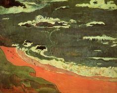 beach at le pouldu, 1889 - Paul Gauguin - WikiArt.org