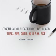 FACEBOOK LIVE ESSENTIAL OIL'S CLASS next Tuesday night, February 28th, @ 8 p.m. EST.  Please comment below with a smiley face :-), If you plan to tune in with me.   Would you like samples of some of the essential oils to try during the class? PM me asap!   I will do a drawing for all attendees to win your very own Essential Oils Trio Introductory kit (peppermint, lavender & lemon) LIVE!  **Special Promotion: Buy $100pv after LIVE class, then spend $100pv before March 31st, get $100 in FREE…