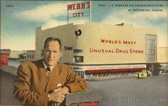 Doc. J. E. Webb and his famous Drug Store, Webb's City St. Petersburg Florida