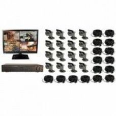 16CH DVR COMPLETE SYSTEM, 1TB HD 4 WIRELESS 12 WIRED WITH MONITOR