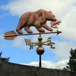 Copper Bear Weathervane 240