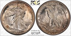 """One of collector Gerald Forsythe's favorite coins, this 1923-S Walking Liberty half dollar graded PCGS Secure Plus MS67 can be seen in person at the PCGS """"Walker Showdown"""" during the September 6 - 8, 2012 Long Beach Expo. (Photo courtesy of PCGS.)"""