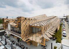 China Milan Expo 2015 pavilion has over 1,000 bamboo panels