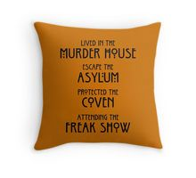 'EDR 246 lived in the murder house' Throw Pillow by happydesignlike