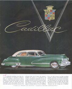 Cadillac #vintage #ad