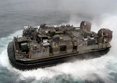 LCAC military hovercraft