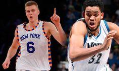 Towns y Porzingis nombrados una vez mas novatos del mes en la NBA