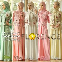 Gamis Pesta Bahan Organdi Florence by Ayyanameena Muslim Fashion, Hijab Fashion, Muslim Dress, Bridesmaid Outfit, Dress Codes, Marie, Dress Up, Gowns, Wedding Dresses