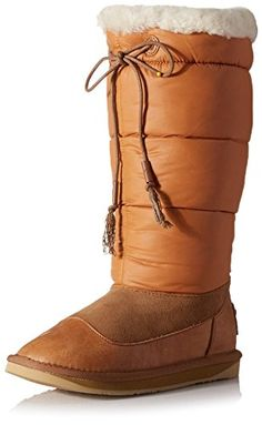 Australia Luxe Collective Womens Earth Nylon Snow Boot Tan 40 M EU9 M US ** Check this awesome product by going to the link at the image.(This is an Amazon affiliate link)