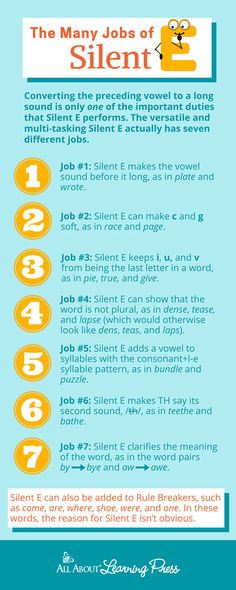 Discover the MANY jobs of Silent E: Teaching Kids the Whole Truth - All About Learning Press