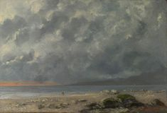 Beach Scene - Gustave Courbet, 1874