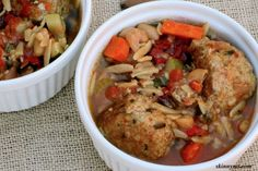 Slow Cooker Italian Meatball Stew - herbs and spices come together in this tasty and healthy soup!