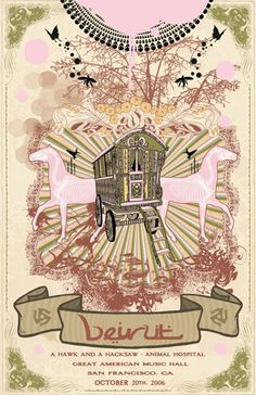 GigPosters.com - Beirut - A Hawk And A Hacksaw - Animal Hospital