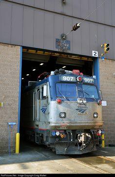 RailPictures.Net Photo: AMTK 907 Amtrak ASEA AEM-7 at Washington, District of Columbia by Craig Walker