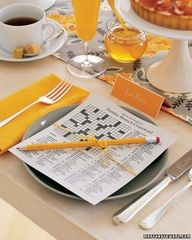 Customized crossword puzzles for a wedding brunch; martha recommends questions about the bride and groom--this is EXACTLY the template I have been looking for