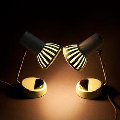 """Paire de lampes années 50 """"Parasol"""" #lumière #vintage"""
