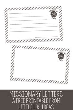 These Missionary Cards are adorable and would be great for Primary or for your family to write a little note to a Missionary. FREE printable from Little LDS Ideas