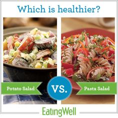 Find out which is the better option in this all-American food face off to determine which is healthier: potato salad or pasta salad.