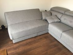 Deployed corner sofa on the Habitat sofa + chaise. Habitat sofa offers extra seating thanks to the Duetto system that turns the chaise easily with a press of a button to a seating with a back rest. Delivered to our client in Andover. Modern Sofa, Modern Bedroom, Sofa Bed Mattress Cover, Chaise Sofa, Couch, Leather Bed, Extra Seating, Corner Sofa, Sofa Design