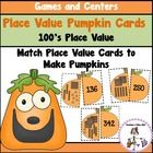 Place Value Pumpkins to the 100's Place includes 24 pumpkin cards that display standard form numbers and place value blocks. $