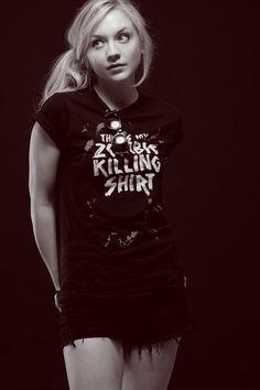 emily kinney walking dead   portrait the walking dead zombie Emily Kinney original photographers ...